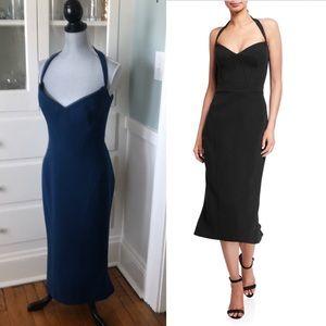 NWT $1890 Navy Zac Posen sweetheart halter dress 8